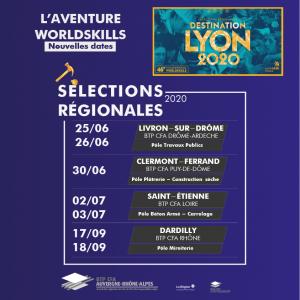 Worldskills - dates Sélections Régionales