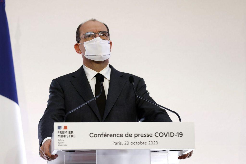 Jean Castex, Premier Ministre, durant sa conférence de Presse du 29 octobre 2020.