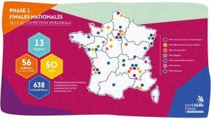 Carte des phases Finales Worldskills